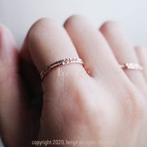 Beige - Embossing Band Ring